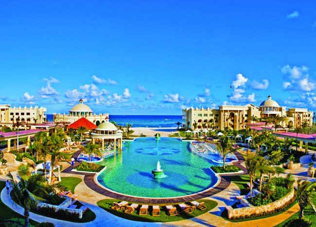 Pool views at Iberostar Grand Hotel Paraiso  in Riviera Maya.