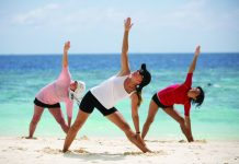 Silversea offers Wellness Expeditions that include beachside yoga in Indonesia.