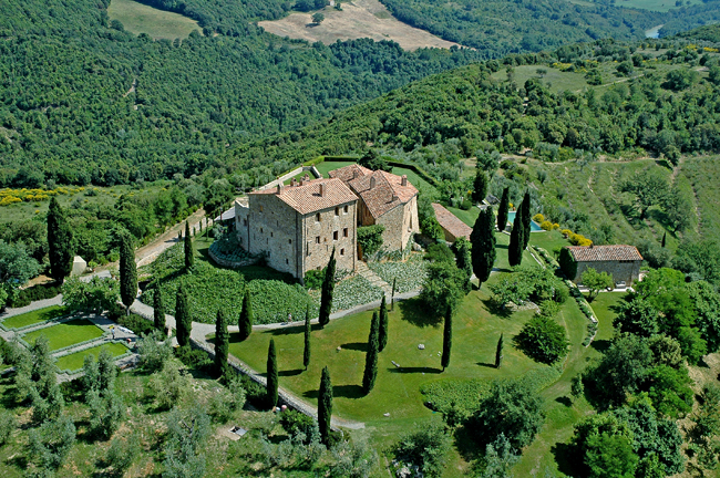 Castello di Vicarello in Tuscany.