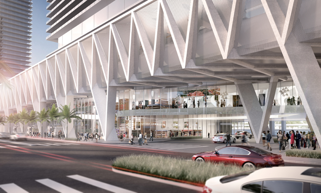 Rendering of the All Aboard Florida station in Miami.