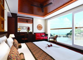 The new Avalon Myanmar sails the Irrawaddy.