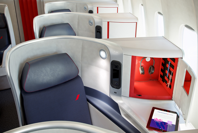 Air France's new Business,Premium Economy, andEconomyclass long-haul cabins are available on services out ofNew York, Los Angeles, Washington, D.C. and now, Boston.