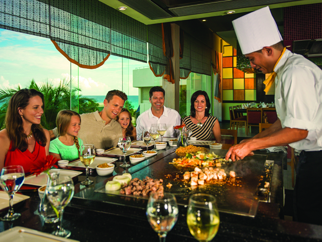 The specialty Japanese restaurant at Iberostar Cancun is one of four  specialty restaurants.