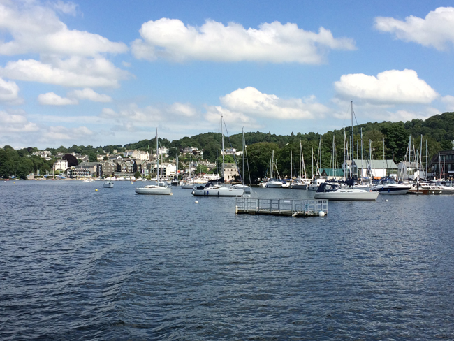 Lake Windermere in England's Cumbria Lake District.