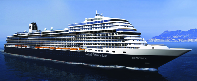 MS Koningsdam, The first ship of Holland America Line's new Pinnacle Class, will set sail next April.