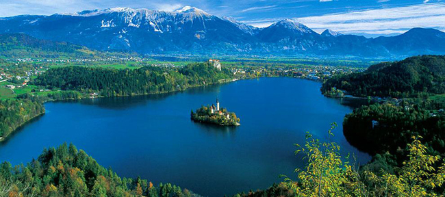 Country Walkers' new Slovenia: Julian Alps to the Adriatic guided walking tour takes guests on strolls through picturesque locales, such as Lake Bled in the Julian Alps (pictured).