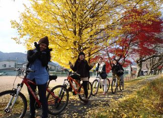 Satoyama Experience's guided walking and cycling tours take guests through the Japanese countryside, past traditional farming village and into the towns where guests can sample sake and local delicacies.