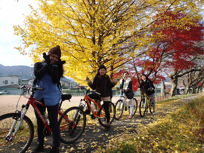 Satoyama Experience'sguided walking and cycling tours take guests through theJapanese countryside, past traditionalfarming village and into the towns where guests can sample sake and local delicacies.