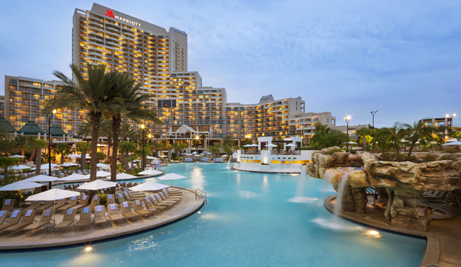 TheOrlando World Center Marriot'sWeekend Winter-vention promotion offers guests20 percent savings and a $25 daily resort credit for booking now throughDec. 31, 2015.