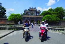 Sightseeing in Hue.