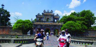 Sightseeing in Hue.