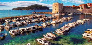 The walled city of Dubrovnik, Croatia.