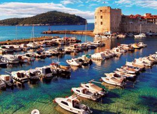 The walled city of Dubrovnik, Croatia.