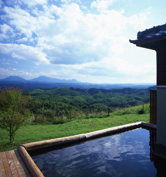 Hot spring at Kuju highland.