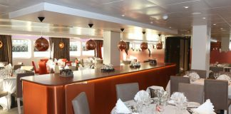 CroisiEurope's Christmas on the Loire holiday cruise includes a special Christmas Eve dinner in the Loire Princesse Restaurant. (Photo credit: Haubtmann)