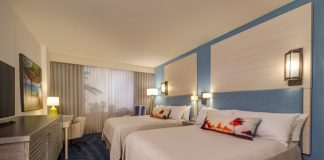 A model room for the soon-to-beLoews Sapphire Falls Resort in Orlando.