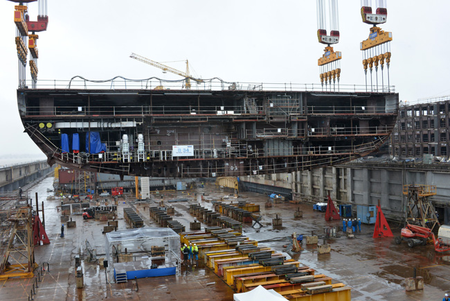 Construction has officially begun on Royal Caribbean Internationals' new Oasis-class ship.