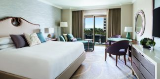 All of the Ritz-Carlton, Sarasota's guestrooms received a fresh new look, including this king bedded room.