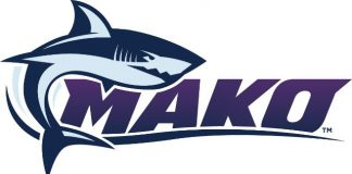 The newly released logo for SeaWorld Orlando's Mako coaster, opening next summer.