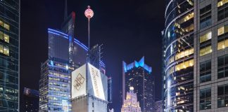 Guests staying at The Knickerbocker Hotel can reserve a Skypod on the rooftop bar to view the Times Square Ball drop.