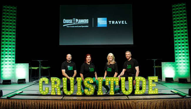 The Cruise Planners executive team at the convention.
