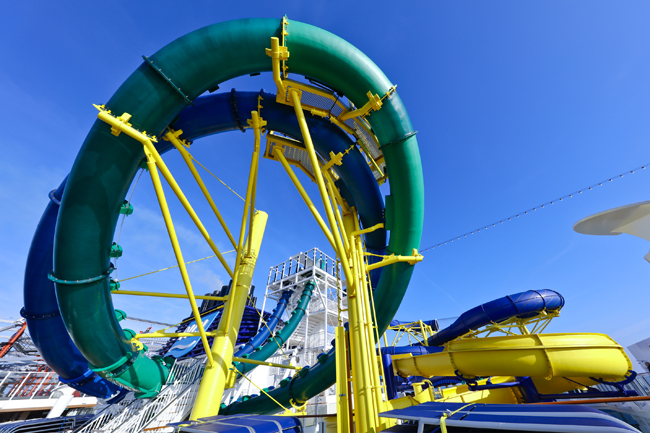 The Aqua Park on board the Escape.
