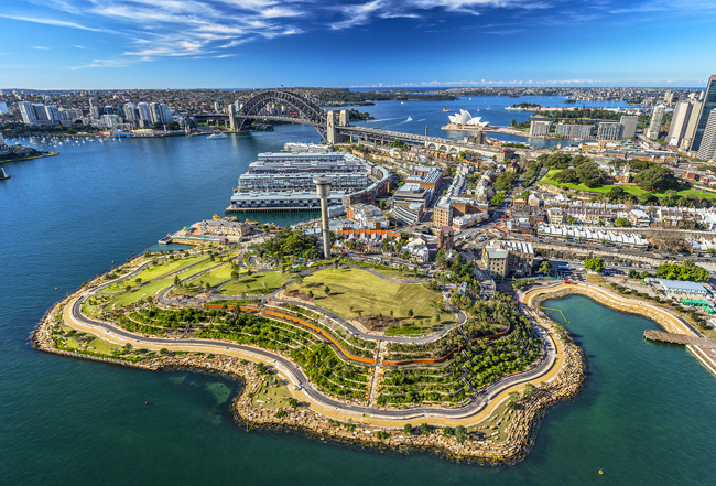 The Barangaroo Reserve in Sydney's Central Business District.