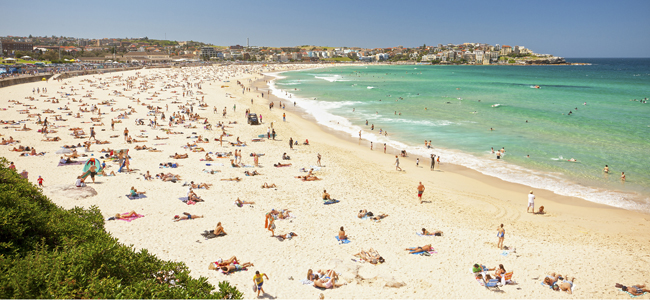 Bondi Beach in Sydney, Australia. (Photo credit: Hamilton Lund)
