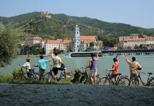 AMAWaterways Bicycle Tour in Durstein, Austria.