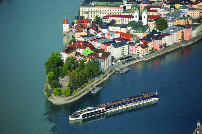 Passau, Germany is one of the most picturesque towns along the Danube.