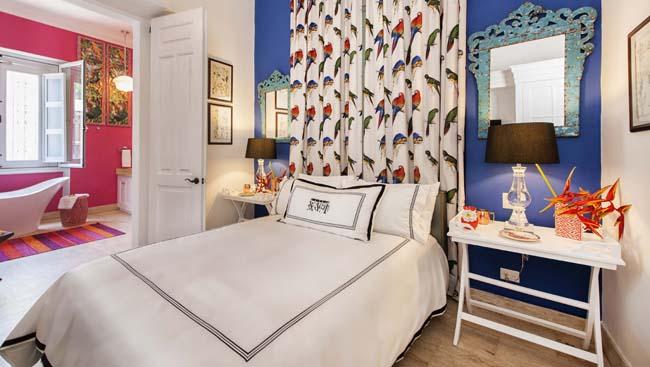 The bedroom inside Casas del XVI'sCasa Macoris guest house.