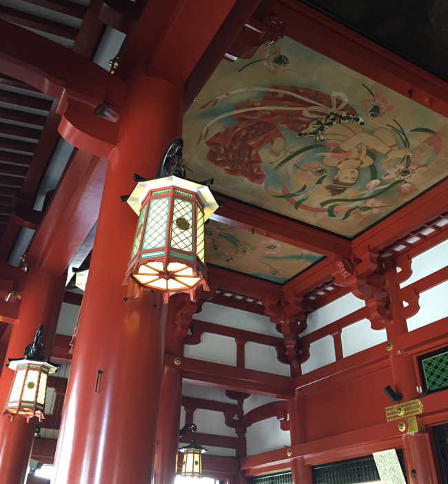 A detail of the Senso-ji Temple.