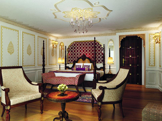 The Maharaja Suite aboard Uniworld Boutique River Cruise Collection's Ganges Voyager II.