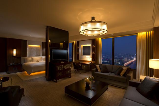 Conrad Seoul's penthouse bedroom suite.