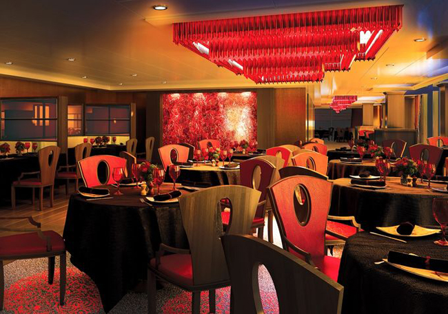 A rendering of the Red Ginger restaurant aboard Oceania Cruises' Sirena ship.