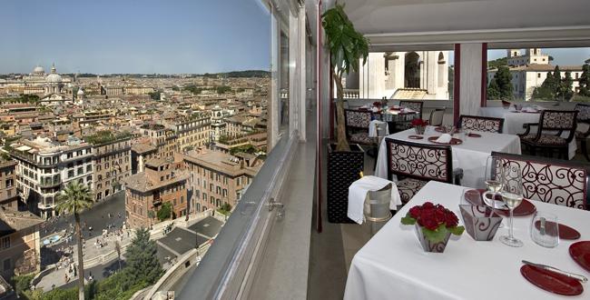 Hassler Roma's rooftop restaurantImago.
