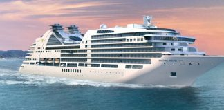 An exterior rendering of theSeabourn Encore.