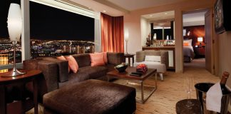The ARIA Resort & Casino's Corner Tower Suite.