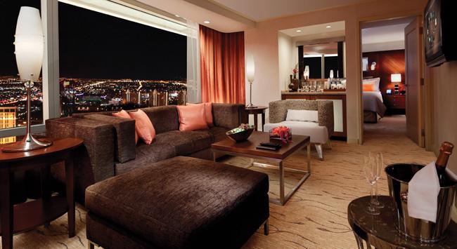 The ARIA Resort & Casino's Corner Tower Suite.