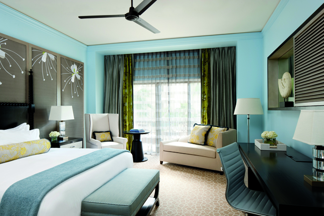 Garden-view accommodations at The Ritz-Carlton, Grand Cayman.