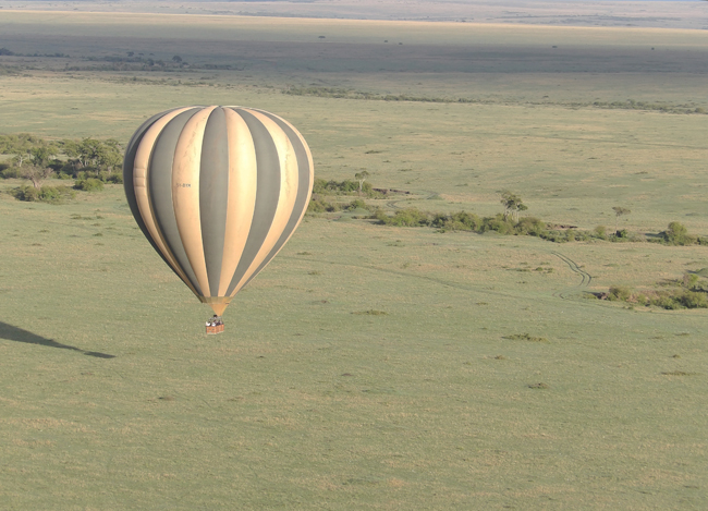 Sunrise balloon safari, piloted by Hot Air Safaris. (Carla Hunt)