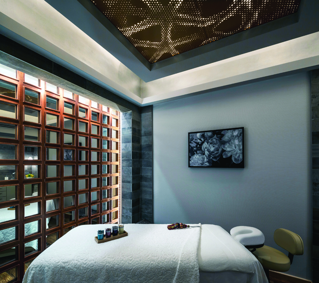 Spa treatment room at the Condado Vanderbilt in Puerto Rico.