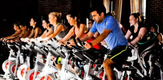 TheRefinery Hotel's new wellness program includes pop-up fitness classes such ascycling.