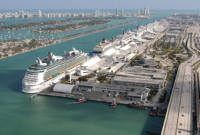 PortMiami in Downtown Miami.