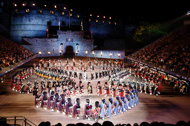 A Military Tattoo performance at Edinburgh Castle. (Photo credit: Insight Vacations)
