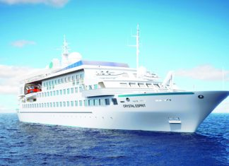 The Crystal Esprit is an all-suite, 62-guest vessel.