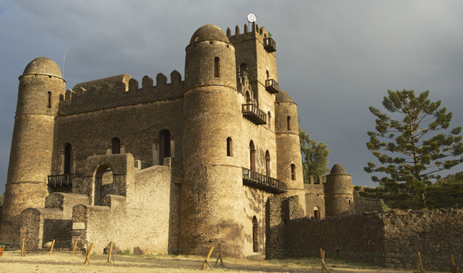 Fasil Ghebbi, a UNESCO heritage site in Gondar, Ethiopia.