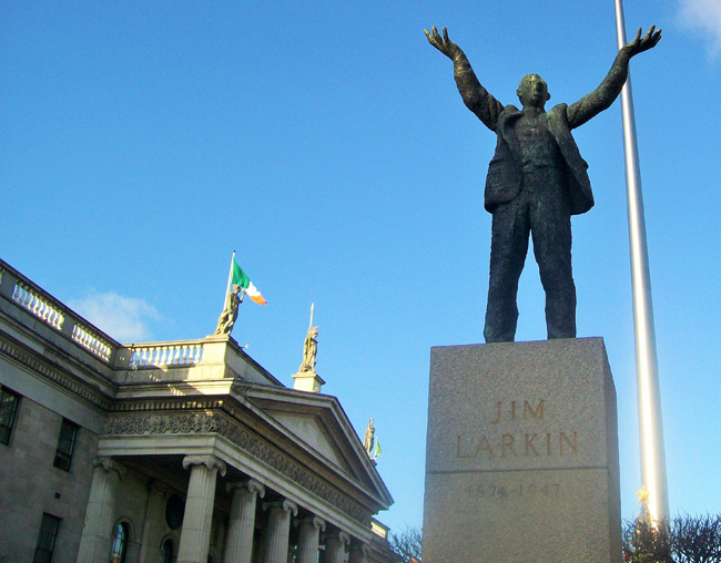 Context Travel's 1916, The Easter Rising and the Making of Ireland walking tour ends at the General Post Office in Dublin. (Photo credit: Kevin Guyan for Context Travel)