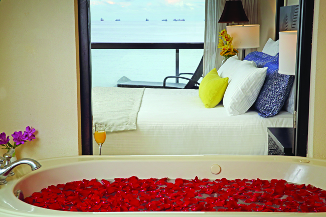 Preferred Club Junior Suite Bathtub at Secrets Playa Bonita Panama Resort & Spa.