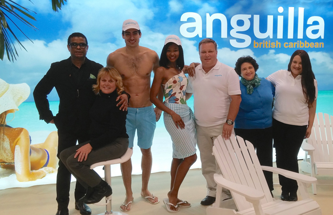 The Anguila booth at the New York Times Travel Trade Show. (Photo credit: Ed Wetschler.)